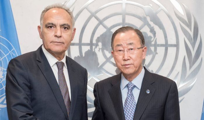 Salahdine Mezouar and Ki-moon