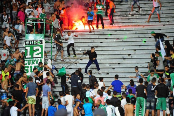 The hooliganism in Casablanca
