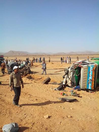 Traffic Accident Kills Schoolgirl, Injurs 19 Others in Southeast Morocco