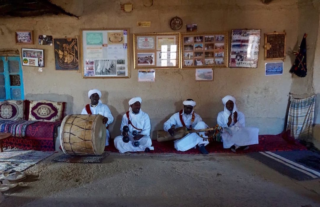 Gnaoua Musicians in Merzouga, Morocco. Photo by Kelsey Fish