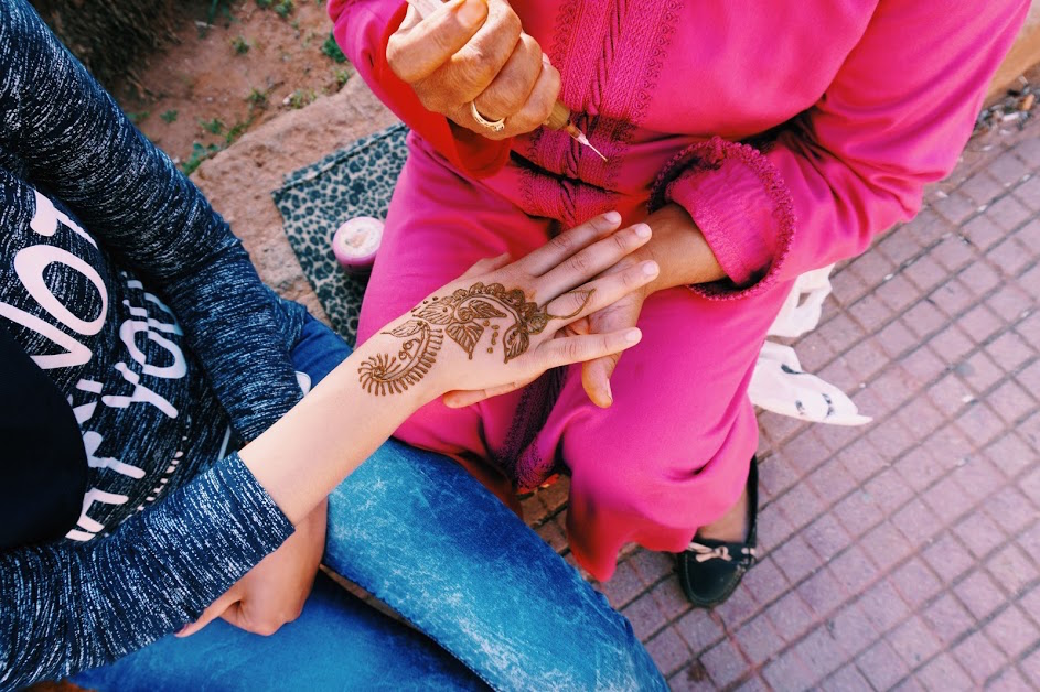 Henna art in Morocco. Photo by Emma Julia Vos