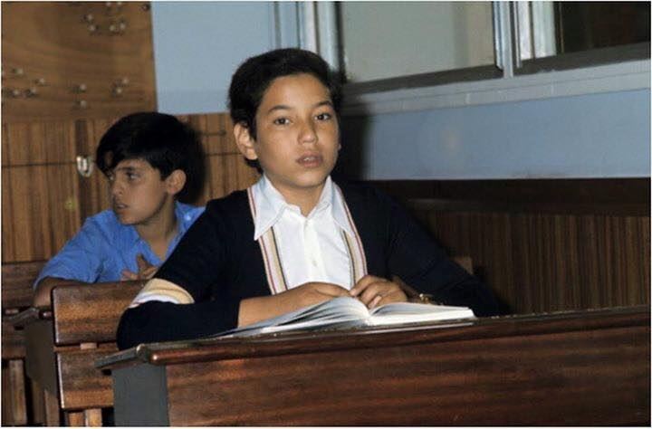 KIng Mohammed VI as a boy in the classroom