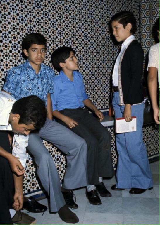 KIng Mohammed VI as a boy with some of his friends