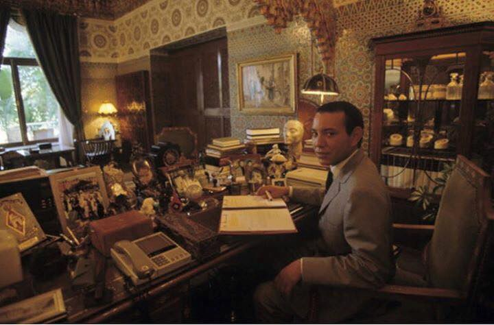 KIng Mohammed VI as a grown up addult at his office