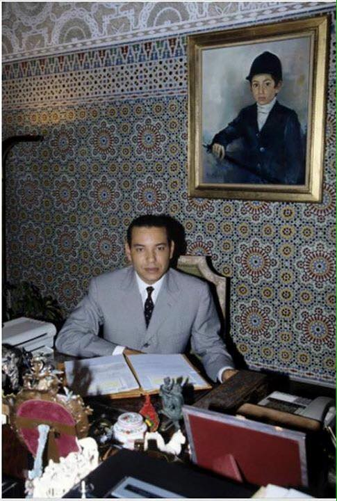 KIng Mohammed VI as a grown up addult at his study room