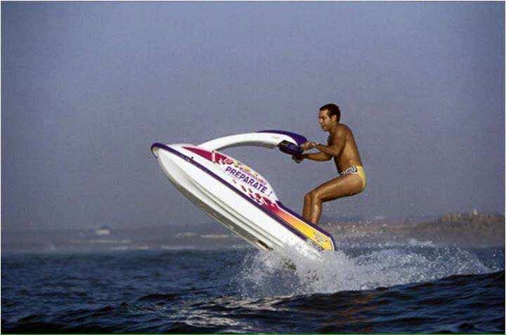 KIng Mohammed VI as an adult doing jetski