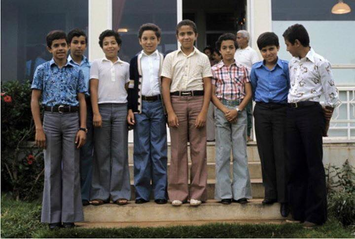 KIng Mohammed VI when he wa a little boy at school with some students