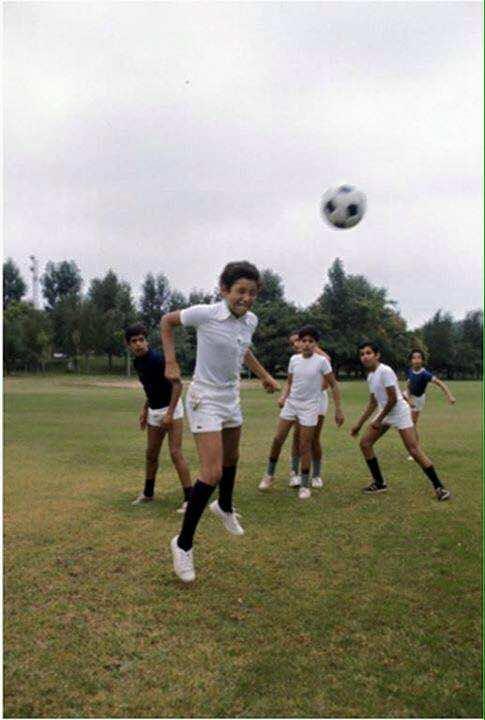 KIng Mohammed VI when he wa a little boy playing football
