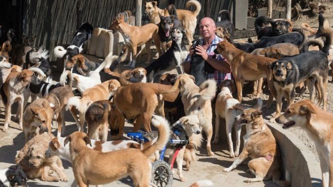 Karl Scarr has cared for more than 1,000 animals since opening the sanctuary in Tangier