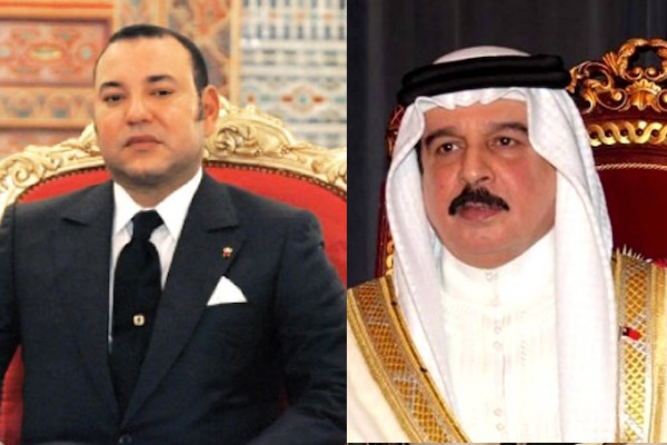 King Hamad bin Isa Al Khalifa with King Mohammed VI
