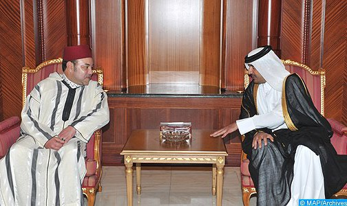 King Mohammed VI and Cheikh Tamim Ben Hamad Al-Thani