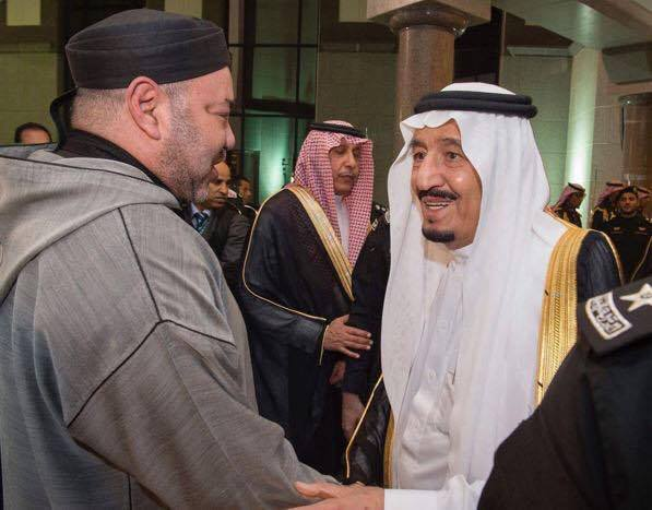 King Mohammed VI and Saudi King