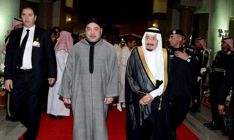 King Mohammed VI in Ryadh, Saudi Arabia