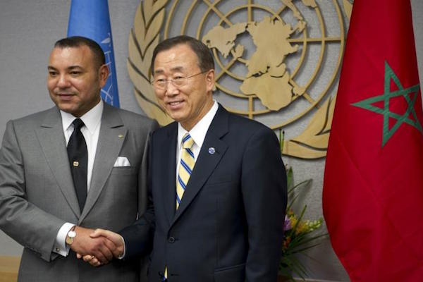 King Mohammed VI with Ban Ki-moon