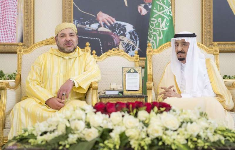 King Mohammed VI with King Salman of Saudi Arabia