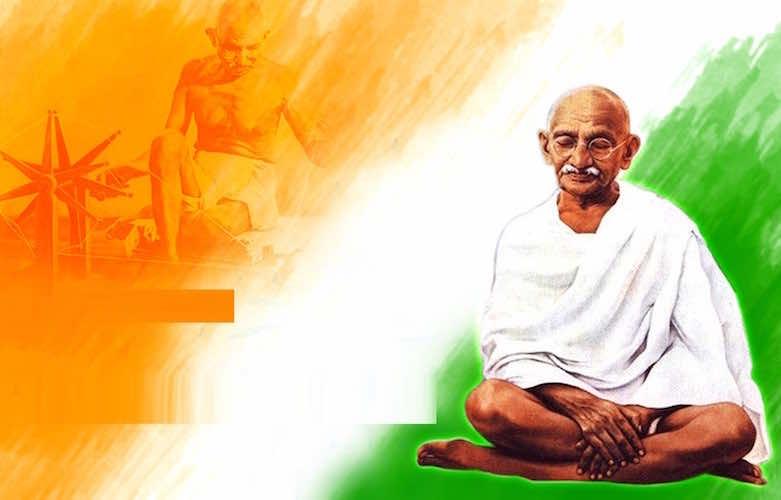 Ghandi, world symbol of frugality and uprightness