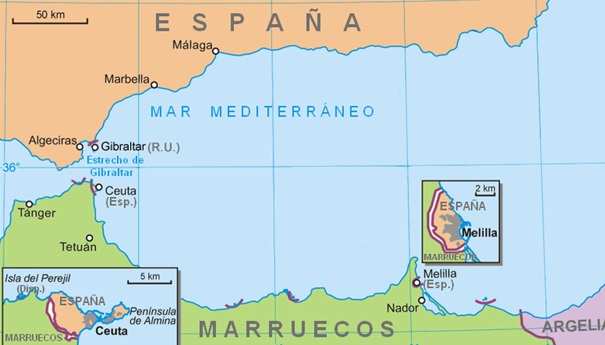 Map Of Spain Gibraltar And Morocco.Spain Wants Gibraltar Back What About Ceuta And Melilla Morocco