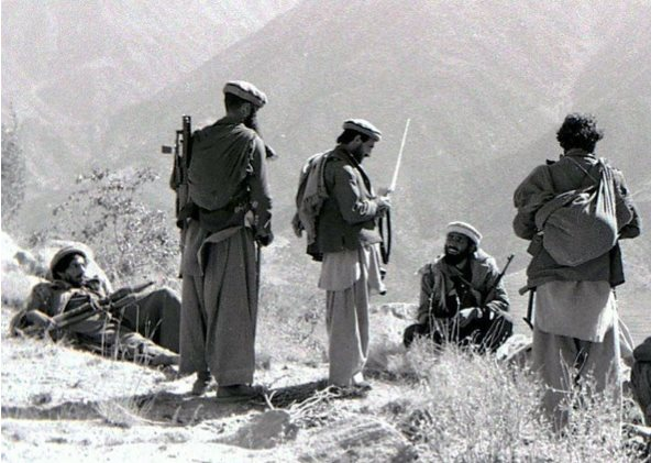 Mujahideen fighters in the Kunar Province of Afghanistan in 1987