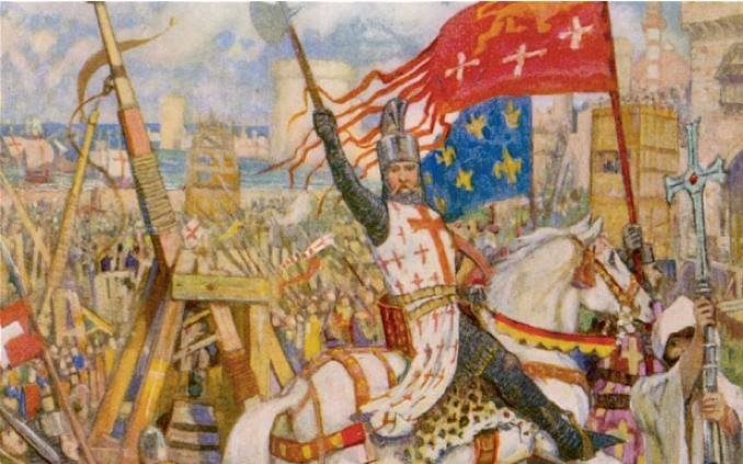 Painting of the Crusades