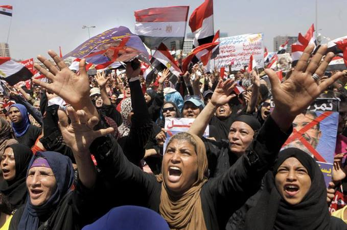 Protest in Egypt in 2011