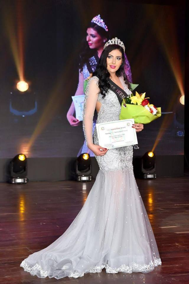 Riem El Kadiri, Winning the World 2016 Title for Miss Teen International, in Beirut Lebanon, on March 5, 2016