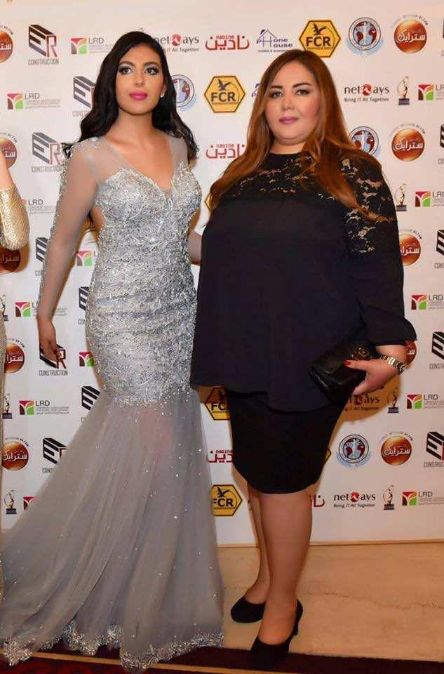 Winner Riem El Kadiri (left), posing with her mother (right)