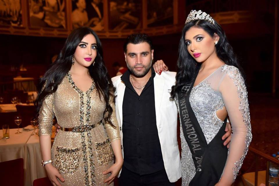 Rim (right) with Miss Middle East 2015 (left)