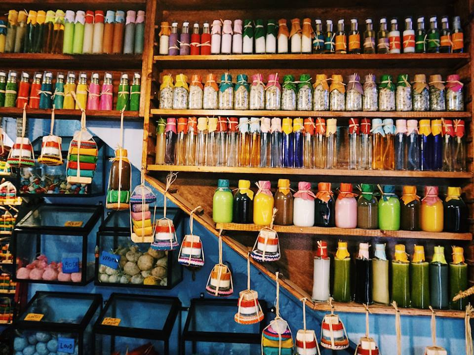Small store in the Medina selling everything from argan oil to perfume soaps