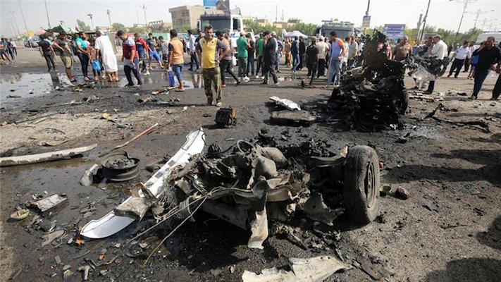 Attacks in and near Baghdad have killed more than 100 people in recent days [AFP]