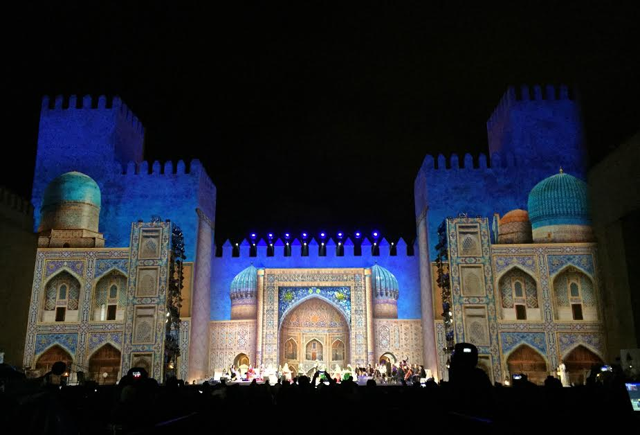 Center stage at Bab Makina in Fes to kick off the 22nd annual Fes Festival Of World Sacred Music. Photo by Salah Ghrissi