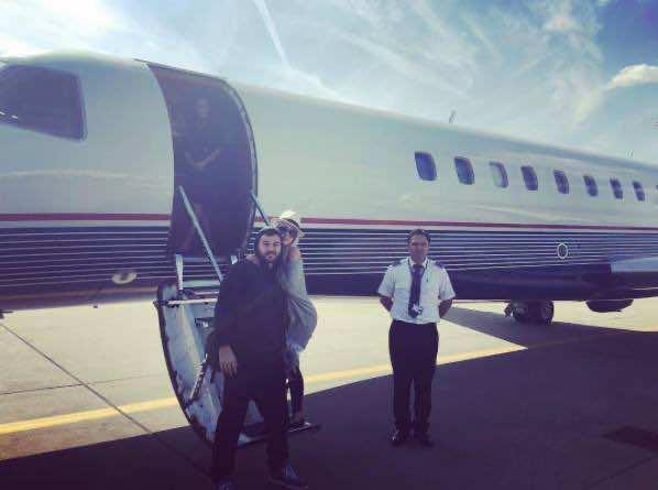 Cristina Aguilera Arrives in Morocco