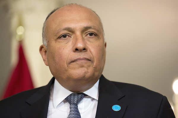 Egypt's Foreign minister Sameh Chokri