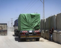 Israel Allows Entery of Building Supplies in Gaza