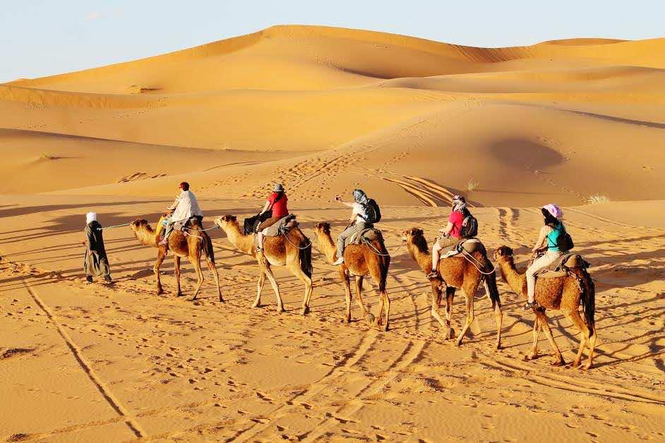 Moroccan Sahara. Camel trek. Photo by Katarina Maruskinova