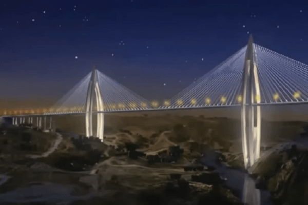 Morocco's landmark cable-stayed bridge