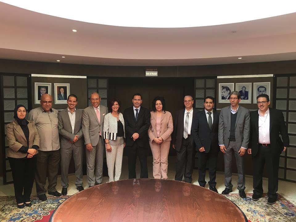Mustapha El Khalfi, Morocco's Minister of Communication meeting with the Moroccan Federation of Newspaper Editors (FMEJ) on May 24