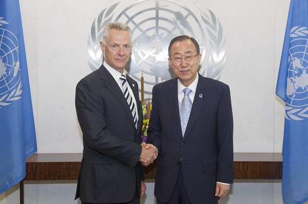 Peter Thomas Drennan and Ban Ki-Moon