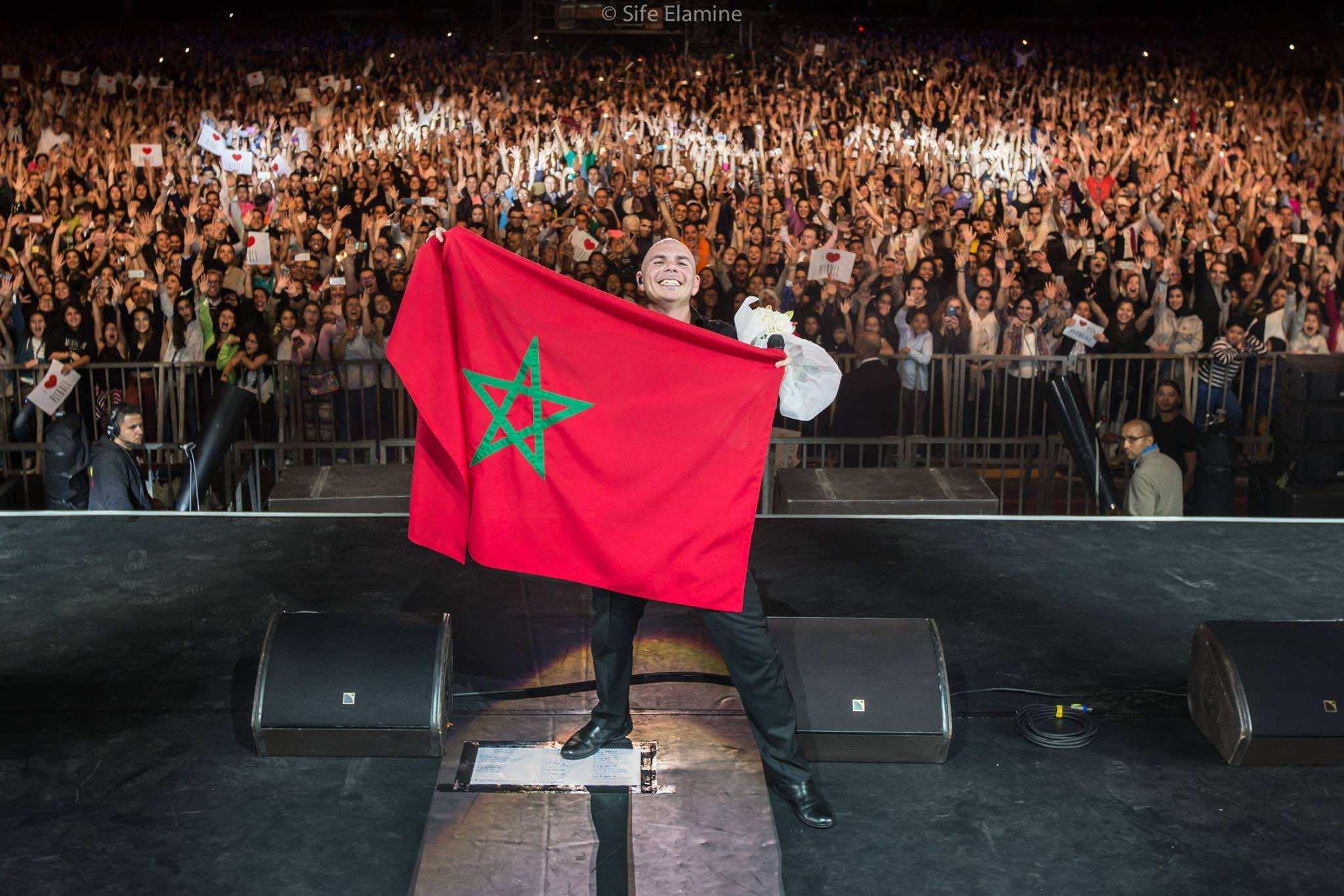 Video: Pitbull's Concert at Mawazine Festival