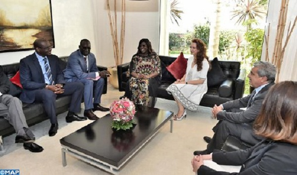 Princess Lalla Salma Receives Senegal's First Lady