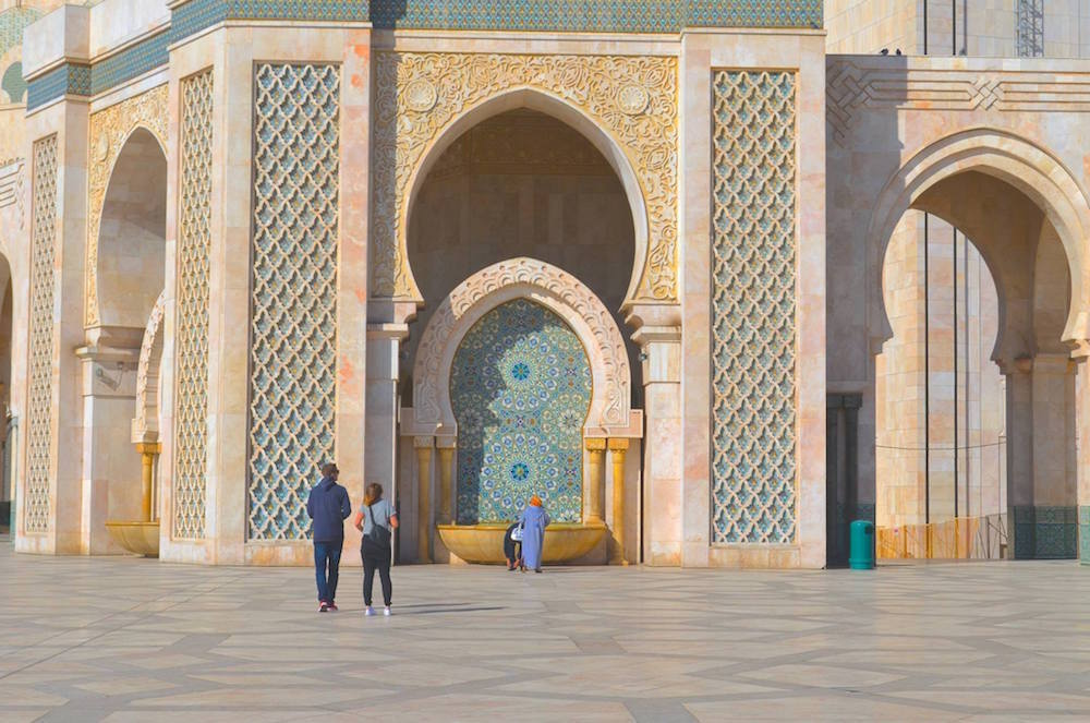 The Grand Mosque Hassan II in Casablanca