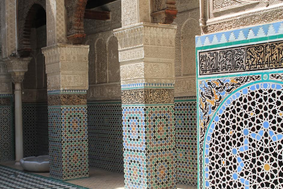 The interior of Bouinania Medresa in Fes should not be missed on any cultural or religious tour