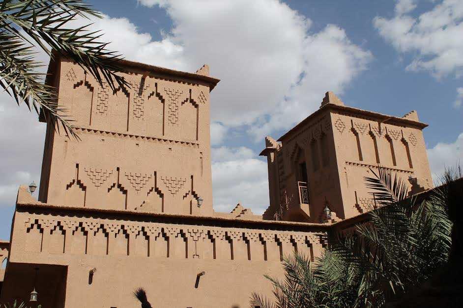 Traditional Saharan adobe dwellings
