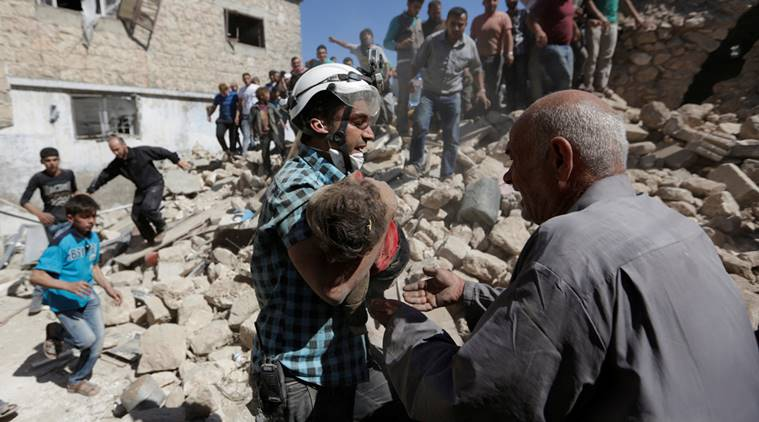 Idlib province air strikes