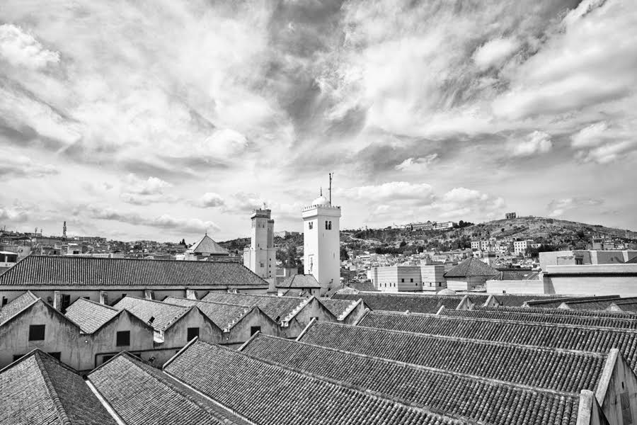 German Photographer Captures Beauty of Fez in Black and White by German photographer Victoria Knobloch. The Grand Mosque in Fez