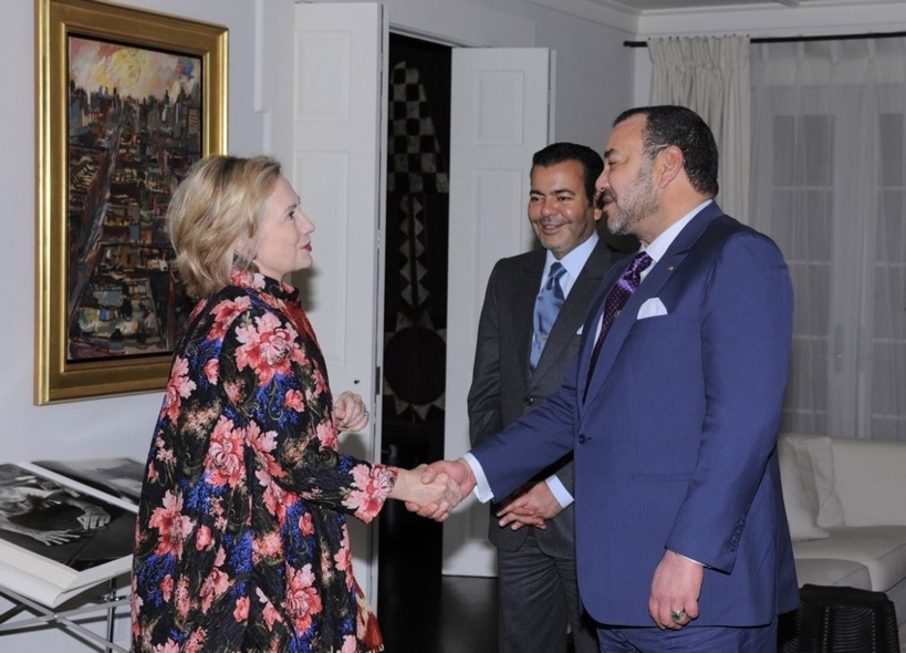 Hillary Clinton with King Mohammed VI