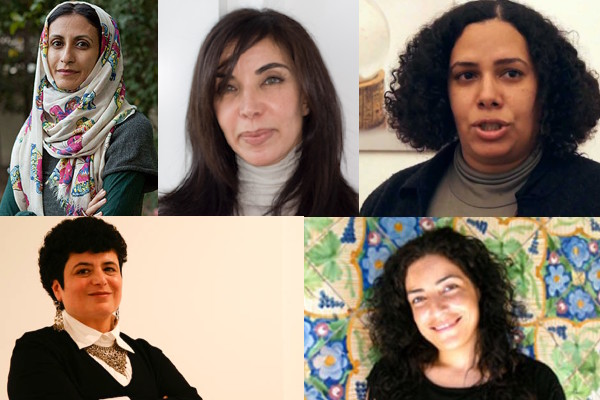 Middle Eastern and North African artists: Raeda Saadeh, Rula Halawani, Lalla Essaydi, Rana El Nemr, and Boushra Almutawakel—and countless others—are responding to these themes.