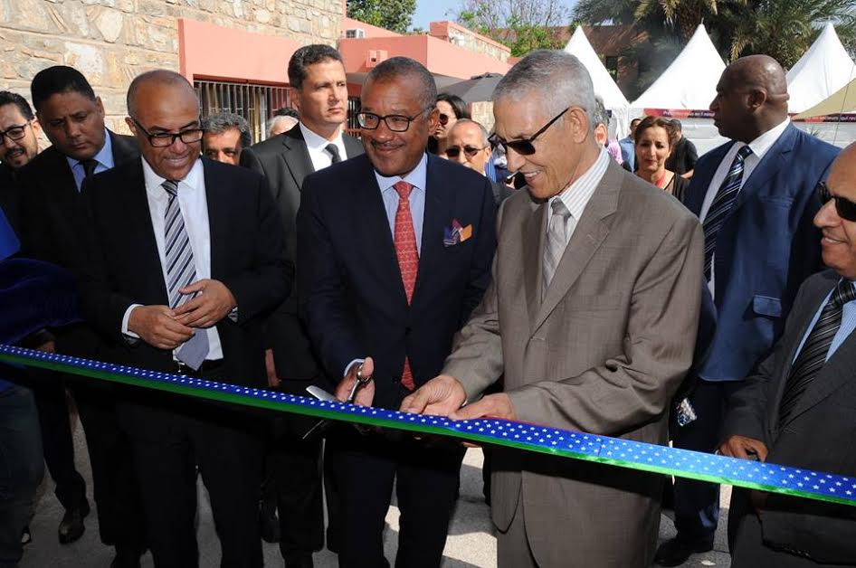 Minister of Higher Education Lahcen Daoudi with the Ambassador of the United States of America in Morocco, Mr. Dwight L. Bush Sr