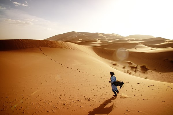 Moroccan golden dunes of Merzouga