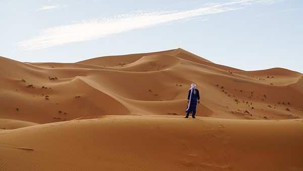 Moroccan golden dunes of Merzouga