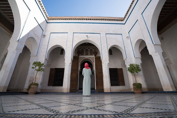 Moroccan woman at a Mosque